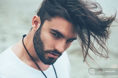 Man's beauty portrait - Portrait of a man with beard and modern hairstyle