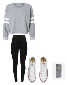 """""""Lazy school day"""" by pkp1313 on Polyvore featuring Converse and adidas"""
