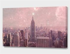 """Stardust Covering New York"", Numbered Edition Canvas Print by Bianca Green - From $89.00 - Curioos"