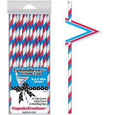 Norton's U.S.A.: Red, White and Blue Paper Straws just in time for Memorial Day and Fourth of July! #MadeinUSA
