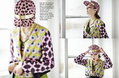 Loving this shot of our 'Leopard Hat Pink' in 1AM MAGAZINE styled by Monique Moynihan.   On sale in stores and online now: www.shakuhachi.net