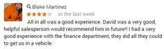Thanks Blake!   #CustomerService #AllenSamuelsChryslerDodgeJeepRam
