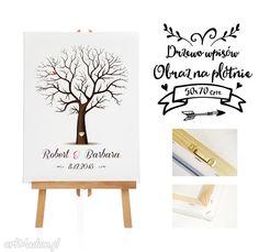 Obraz na płotnie - Drzewo wpisów gości - 50x70 cm. $32