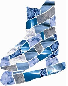 knutselen met kinderen | schaats | mozaïk | papier | koele kleuren | winter
