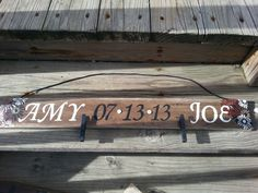 Anniversary clothes pin picture holder for my other sister in law