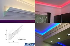 led lights recessed wall lights led cove lighting profile check it out on architonic bath. Black Bedroom Furniture Sets. Home Design Ideas