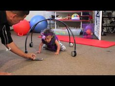 """Bilah was an 18 month little girl who still had yet to crawl or want to put any weight on her hands. When she was introduced to a new type of crawling device named the """"iCan Crawler,"""" her physical functionality expanded. Cerebral Palsy, Spina Bifida, Down Syndrome, TBI are what can inhibit this process of not being able to crawl. However, this very strong, lightweight, & portable device is the new crawling assistant of today."""