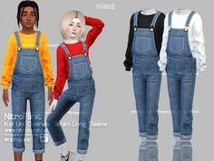 The Sims 4 Kids, Toddler Cc Sims 4, Sims 4 Toddler Clothes, Sims 4 Cc Kids Clothing, Sims 4 Children, Sims 4 Mods Clothes, Children Clothing, Toddler Outfits, Sims 4 Cas