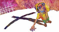 """Página dupla do livro """"O voo da Asa Branca"""" do amigo e grande ilustrador Rogério Soud.  Saiba mais na entrevista do Orlando:  http://blogdoorlando.blogosfera.uol.com.br/files/2012/11/Asa.jpg"""