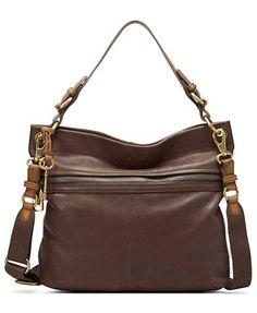 ef0998e61a8c Fossil Explorer Leather Hobo Leather Hobo Handbags