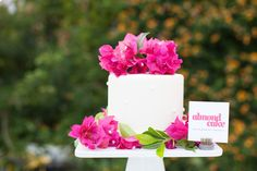 Almond Wedding Cake | Bougainvillea | Photography: Birds of a Feather
