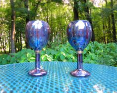 Set of Ceramic Purple Opal Lustre Wine Glasses or by aarceramics, $32.00