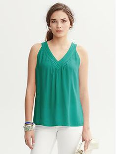 Nadia V-Neck Top | Banana Republic Find Fall 2013 Color Trends at #ValleyWestMall