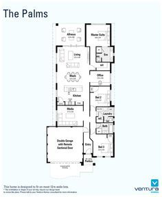The Award\' floorplan. 10m frontage. 4x2. Alfresco, scullery ...