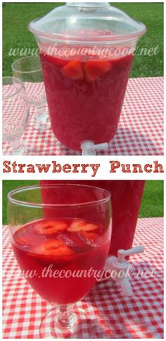 The Country Cook: Sparkling Strawberry Punch