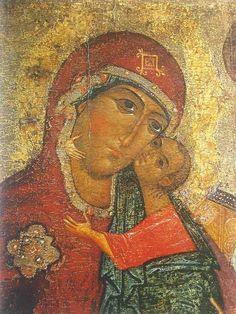 File:Theotokos of Tolga (fragment). Religion, Holy Quotes, Biblical Art, Byzantine Art, Orthodox Icons, Mexican Art, My Favorite Image, Virgin Mary, Sacred Art