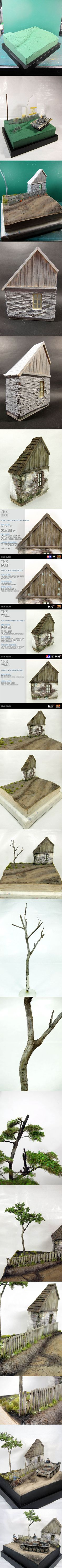 Village diorama - step by step part 1/1