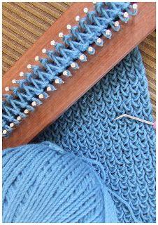 FitzBirch Crafts: Loom Knitting a scarf