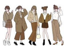 Character Outfits, Character Art, Character Design, Cute Art Styles, Cartoon Art Styles, Fashion Design Drawings, Fashion Sketches, Anime Outfits, Mode Outfits