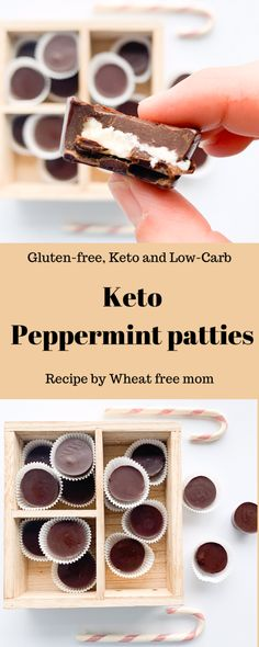 A healthier peppermint patty option Chocolate Coating, Melting Chocolate, Pepermint Patties, Mini Cupcake Pan, Keto Chocolate Chip Cookies, Free Mom, Unsweetened Chocolate, Gluten Free Sweets, Peppermint