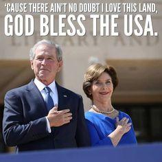 President and Mrs George W Bush