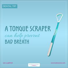 A tongue scraper removes the sulfur that rises to the surface of the tongue, which can be gently scraped away. Bad Breath, Oral Hygiene, Teeth Cleaning, Dental, How To Remove, Surface, Canning, Tips, Advice