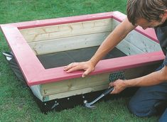 How to build a children's sandpit | Help & Advice | DIY at B&Q #buildachildrensplayhouse