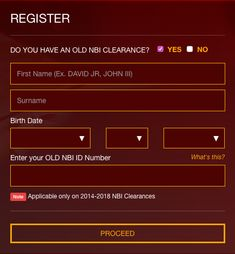Step-by-Step NBI Clearance Online Application Guide Loan Application, Terms Of Service, First Names, How To Apply