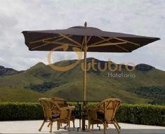 ombrelone guarda sol  madeira gigante 300 x 300 várias cores