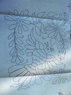 Imagenes tenangos Diy Otomi Embroidery, Mexican Embroidery, Hand Embroidery Stitches, Hand Embroidery Designs, Ribbon Embroidery, Floral Embroidery, Embroidery Patterns, Stained Glass Patterns Free, Mexican Pattern