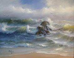 Joyce Ortner - paisaje marino del artista