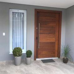 Door Design Interior, Small House Design, Facade House, House 2, Home Office, Tall Cabinet Storage, Garage Doors, Grades, Exterior