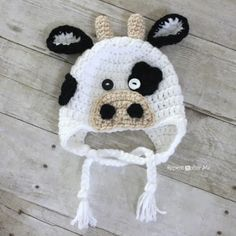 Repeat Crafter Me: Crocheting cow hat