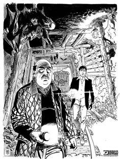 Dylan Dog e l'ispettore Bloch visti da Bruno Brindisi