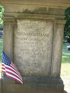 Grover Cleveland - and United States President, New York Governor. A Democrat, he was first elected President in defeated in and reelected in becoming the only United States President to serve two non-consecutive terms. Cemetery Headstones, Old Cemeteries, Cemetery Art, Graveyards, Julius Caesar, Presidential History, Presidential Libraries, Presidential Trivia, American History