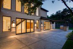 Alta Vista New Build - contemporary - patio - dallas - ICF Custom Homes, Windsor Windows & Doors