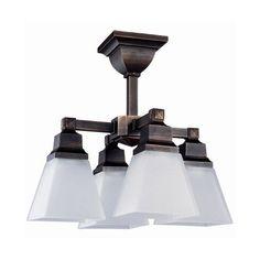 Amazon.com: DVI DVP7603SN 4 Light Aurora Semi Flush Ceiling Light: Lamps & Light Fixtures