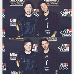 Love that first pic... Patrick being adorkable and Pete's smile, ahh! <3