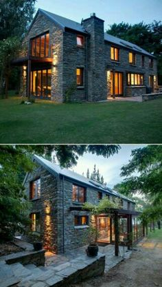 Modern farmhouse exterior design reflects the entire style of the space and the tradition as well. Revamping a farmhouse exterior can be very costly most of the time, depending on the chosen design. Future House, Modern Farmhouse Exterior, Farmhouse Ideas, Farmhouse Design, Farmhouse Small, Farmhouse Windows, Farmhouse Inn, Cottage Design, Farmhouse Table