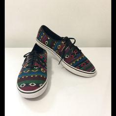 Vans Shoes Vans Aztec Threaded Low Top Shoes! Gently worn! Preloved! Women's size 8 1/2  Vans Shoes Sneakers