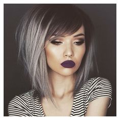 21 Pinterest Looks That Will Convince You to Dye Your Hair Grey ❤ liked on Polyvore featuring accessories, hair accessories, hair and silver hair accessories
