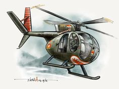 This is already an Egg.....Captain Hugh Mills OH-6 in Vietnam during 1972.... Done in Paper53....