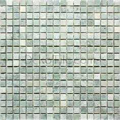 5/8 x 5/8 Polished Ming Green Mosaic Tile, $11.23