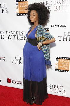 Yaya DaCosta Rocks a Fro and Baby Bump on the Red Carpet - BGLH Gallery