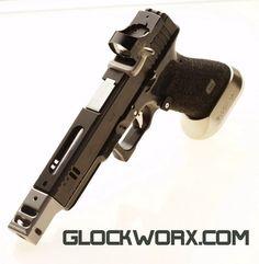 435582595204848746 DIY and crafts gan mens Custom Glock, Custom Guns, Glock Guns, Fire Powers, Cool Guns, Guns And Ammo, Tactical Gear, Shotgun, Firearms