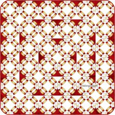 """Double Wedding Ring Quilts with """"on-point"""" settings are my favorites. Quilting Designs, Quilting Ideas, Red And White Quilts, Double Wedding Rings, Wedding Ring Quilt, Medallion Quilt, Baby Quilt Patterns, Quilt Border, Foundation Piecing"""