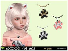 Jewelry for little girl - pendant 'Cat's Paw'. Make a gift for your little sims)) Found in TSR Category 'Sims 3 Necklaces' Sims 4 Mods Clothes, Sims 4 Clothing, Sims Mods, Sims 4 Tsr, Sims Cc, Toddler Necklace, The Sims 4 Packs, Sims 4 Children, Best Sims