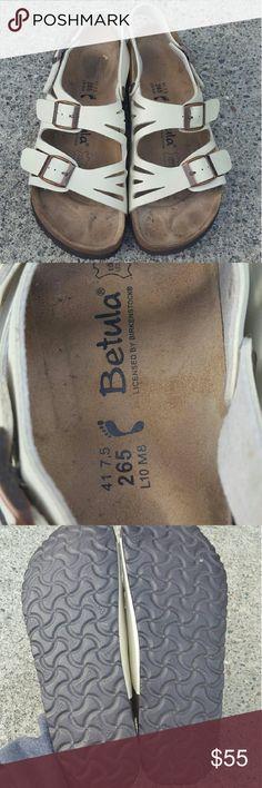 Birkenstock betula sandals Women's size 41 US Size 10 Ivory birkenstock betula sandals in excellent condition, No trades Birkenstock Shoes Sandals