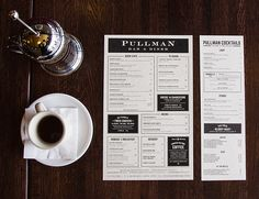 Art of the Menu: Pullman Bar & Diner