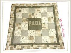 Babydecken - Baby Patchwork-Decke, Krabbel-Decke taupe/grau - ein Designerstück von dietapfereschneiderin bei DaWanda